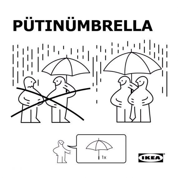 Putin umbrella